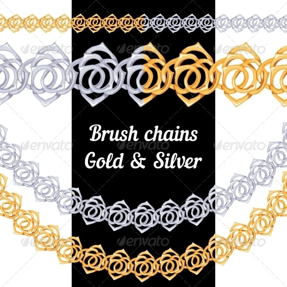 Set of Metal Rose Chains  - Decorative Symbols Decorative