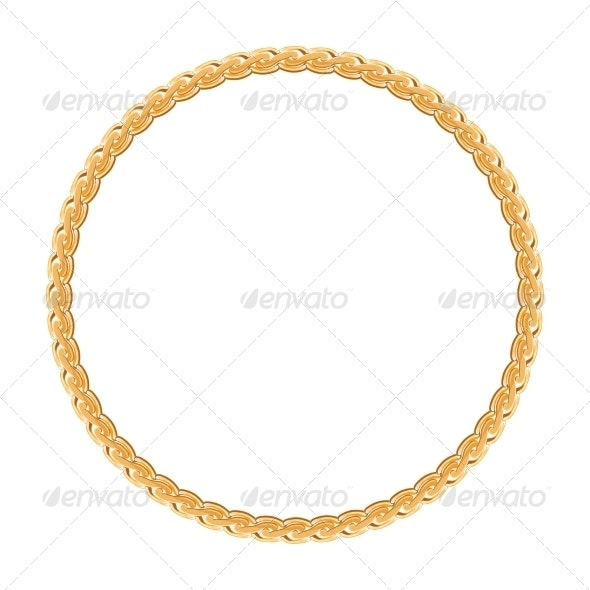 Round Gold Frame - Decorative Symbols Decorative