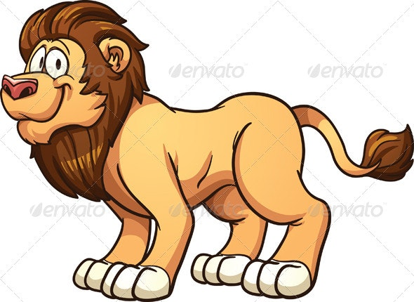 Cartoon Lion - Animals Characters