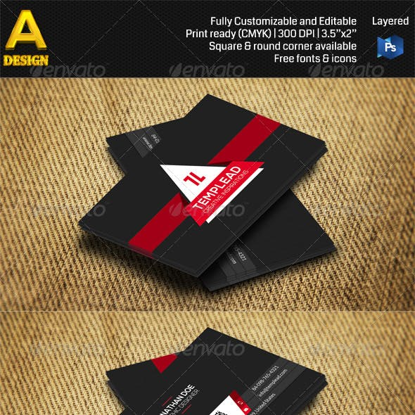 Modern Corporate Business Card AN0481