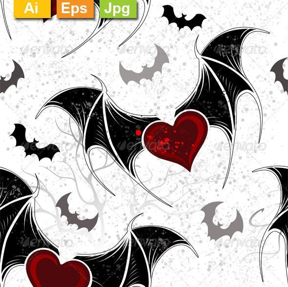 Seamless on Halloween - Patterns Decorative