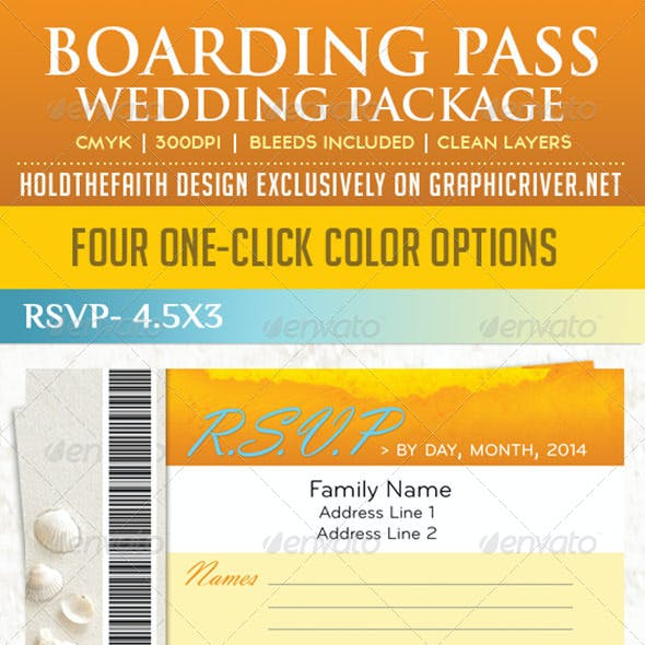 Boarding Pass Wedding Package