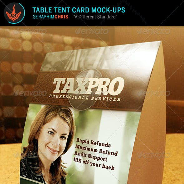 Table Tent Card Mock Up Templates