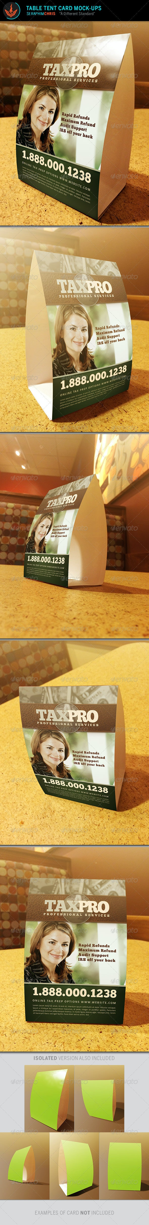 Table Tent Card Mock Up Templates - Miscellaneous Print