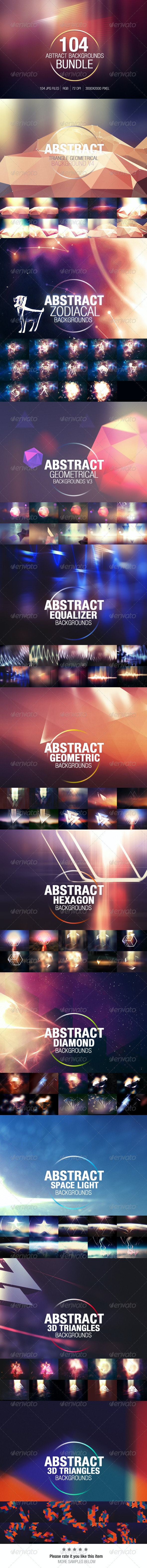 104 Abstract Backgrounds Bundle