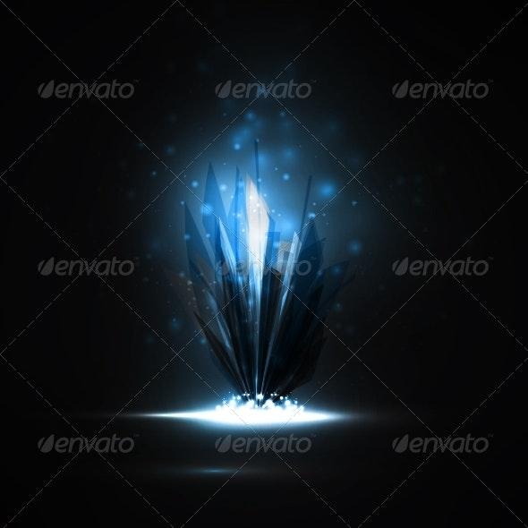 Magic Crystal - Abstract Conceptual