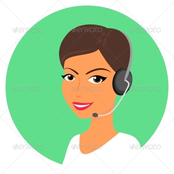 Female Call Centre Operator - People Characters