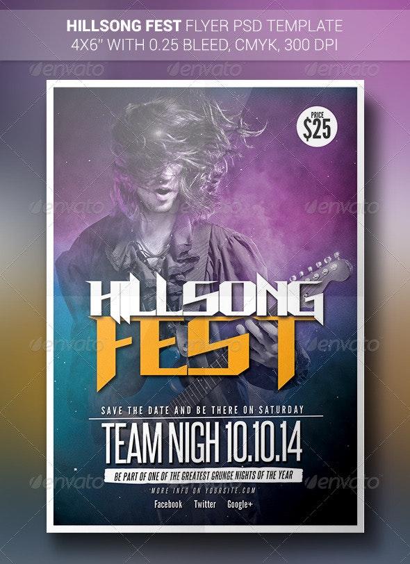 Hillsong Fest | Flyer - Concerts Events
