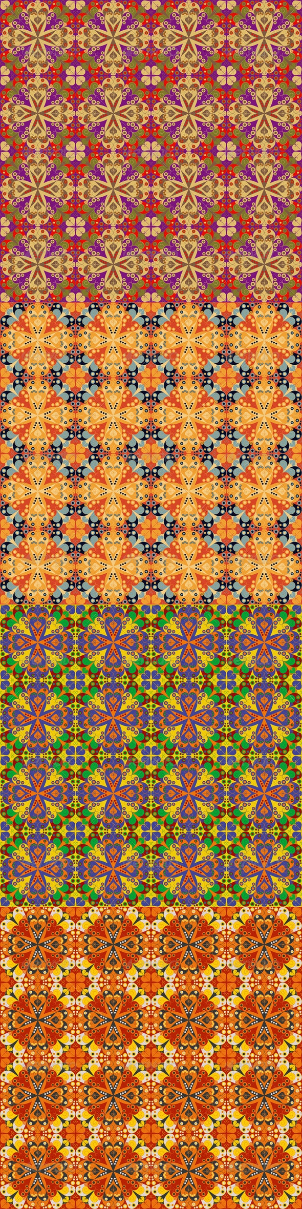 Four Abstract Seamless Patterns - Patterns Decorative