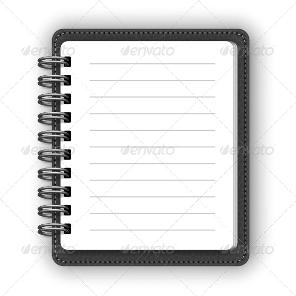 Leather Spiral Notebooks - Man-made Objects Objects