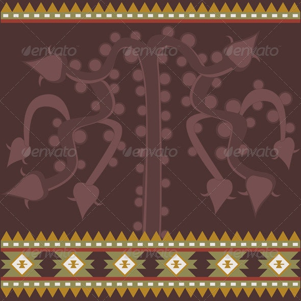 Banner with Ancient American Ornaments - Backgrounds Decorative