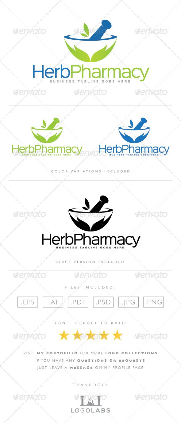 Pharmacy Logo - Nature Logo Templates