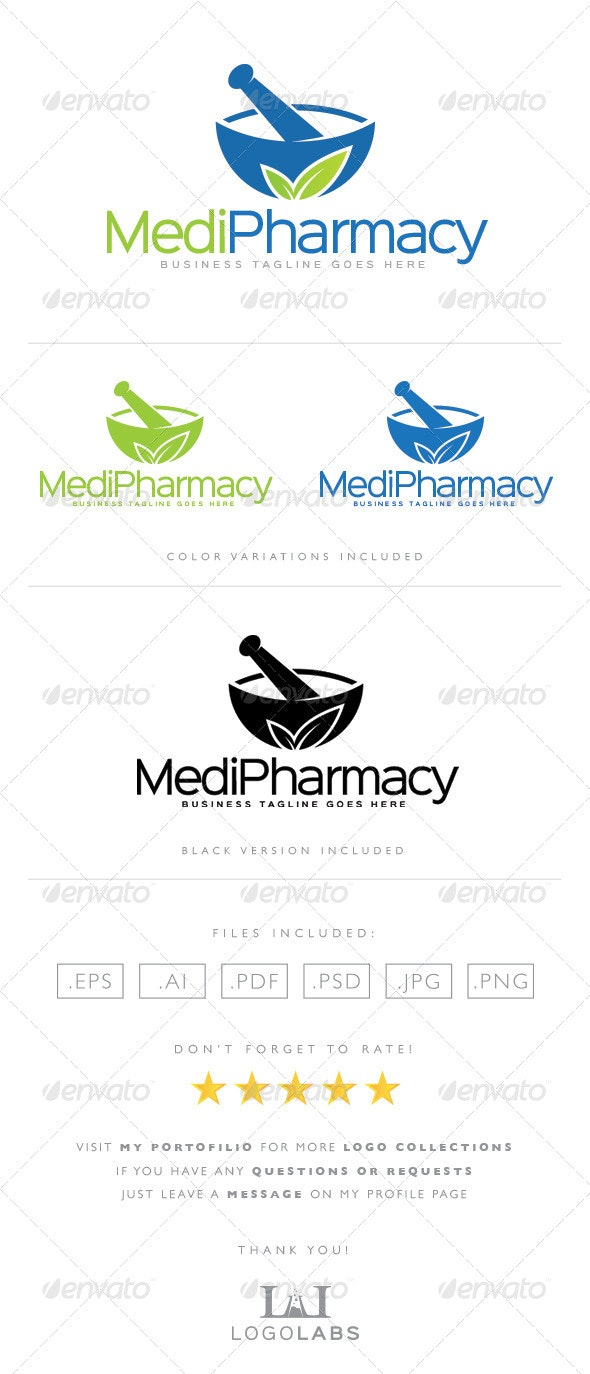 Pharmacy Logo - Nature Logo Templates