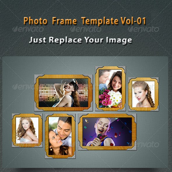 Photo Frame Template V-01