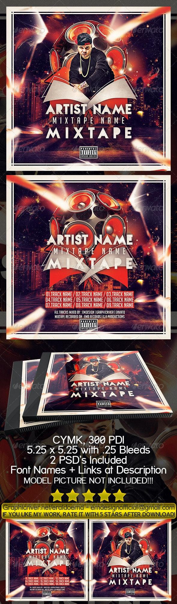 CD Mixtape Cover - CD & DVD Artwork Print Templates