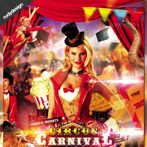 Circus Carnival Flyer Design