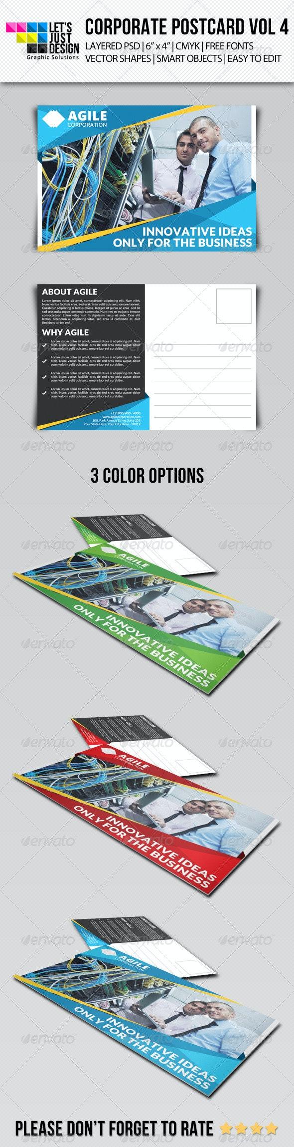 Corporate Postcard Template Vol 4 - Cards & Invites Print Templates