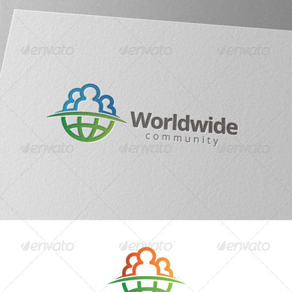 World Globe People Community Logo