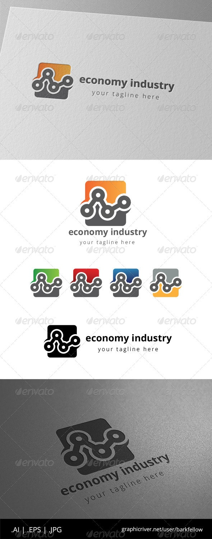 Engineering Industry Chart Logo  - Symbols Logo Templates