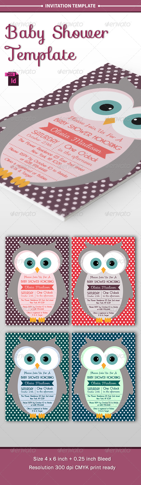 Baby Shower Template - Vol. 7 - Invitations Cards & Invites