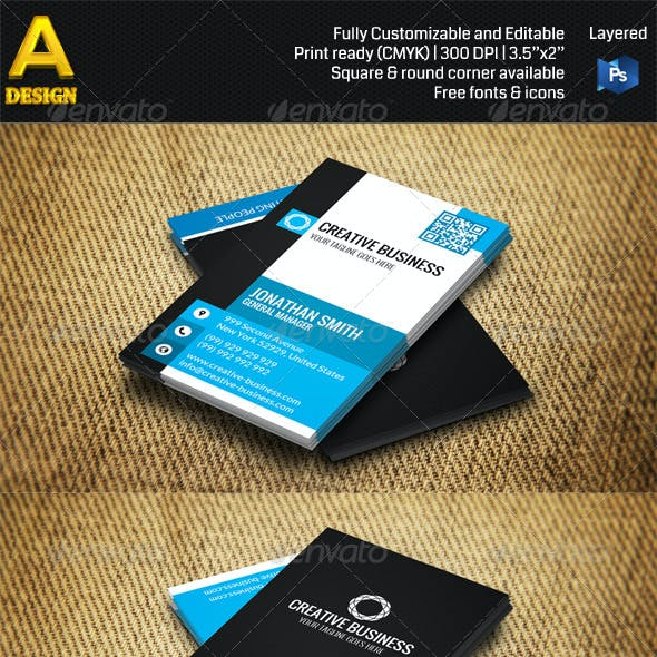 3 in 1 Corporate Business Card Bundle ANB0024