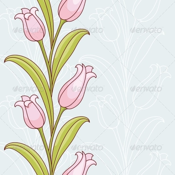 Invitation Card with Flowers - Flowers & Plants Nature