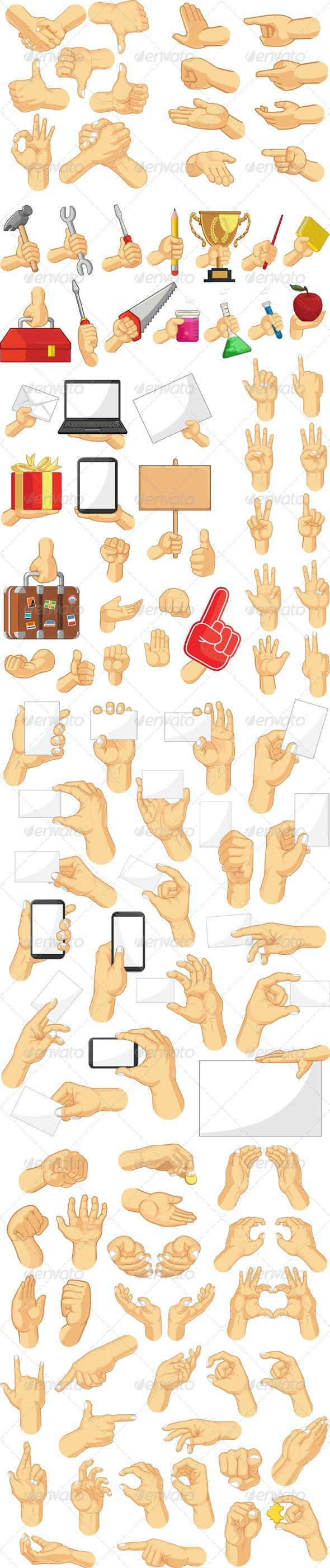 Hand Sign Collection - Business Conceptual