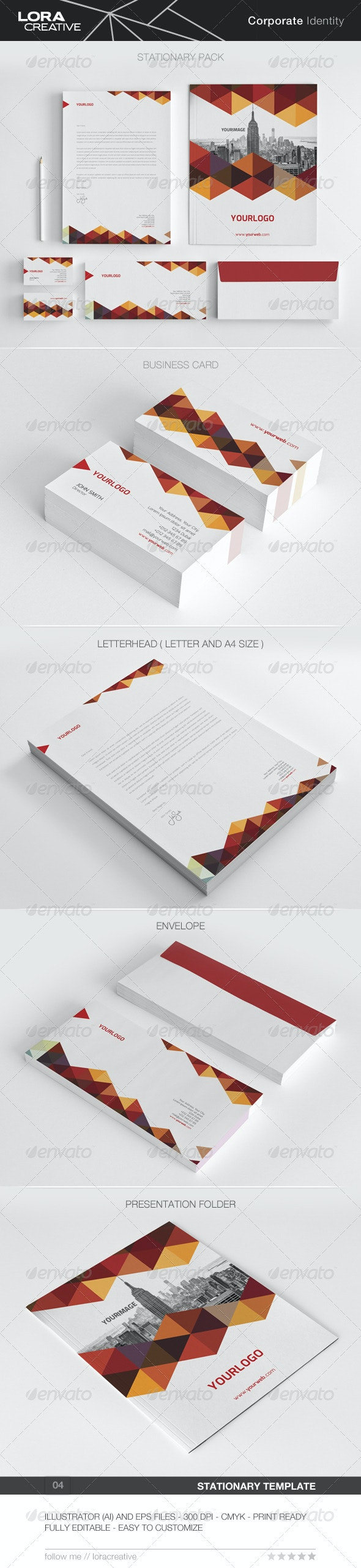 Modern Stationary Pack - 04 - Stationery Print Templates