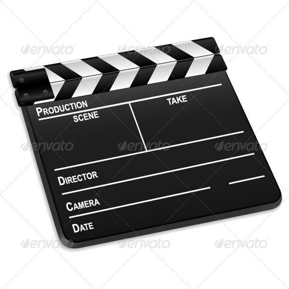 Clapper Board - Objects Vectors