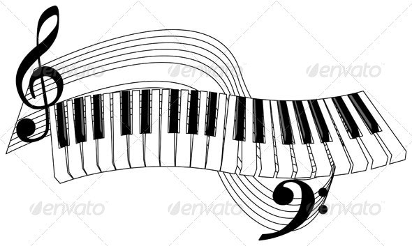 Piano Keys - Miscellaneous Vectors