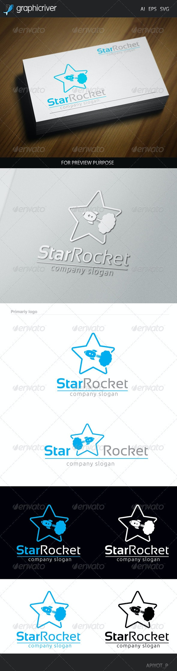 Star Rocket Logo - Objects Logo Templates