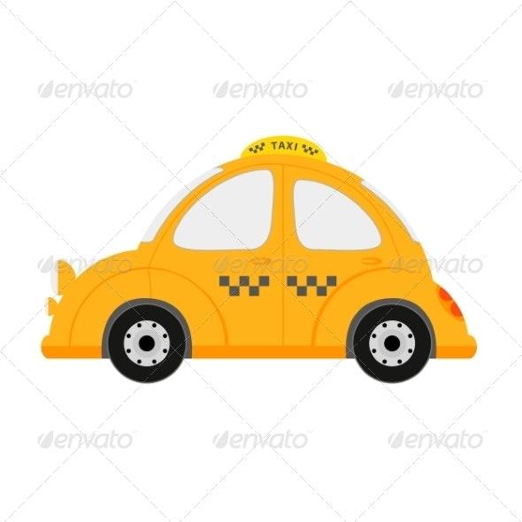 Small Taxi Car - Travel Conceptual