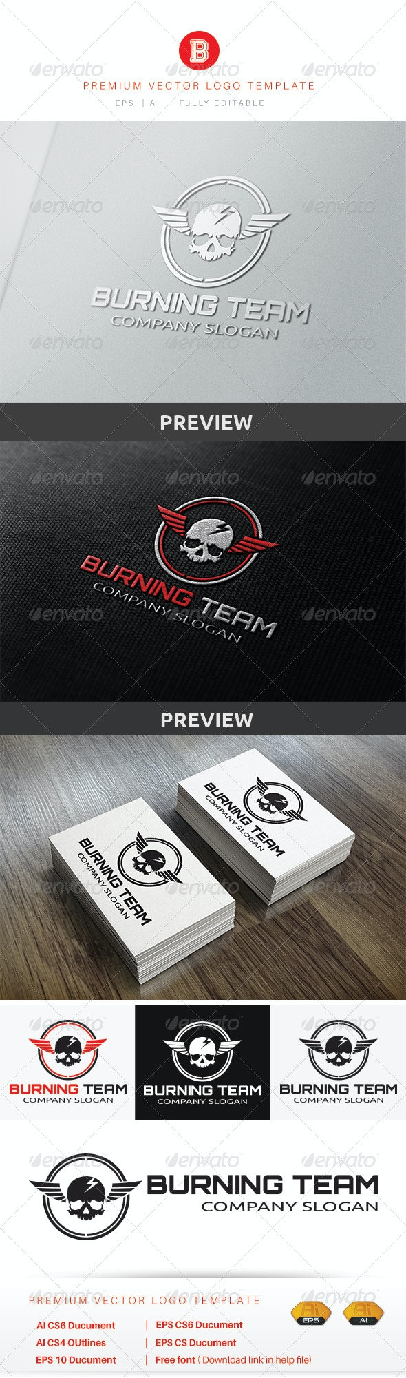 Burning Team - Humans Logo Templates