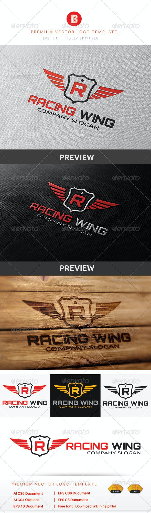 Racing Wing - Objects Logo Templates