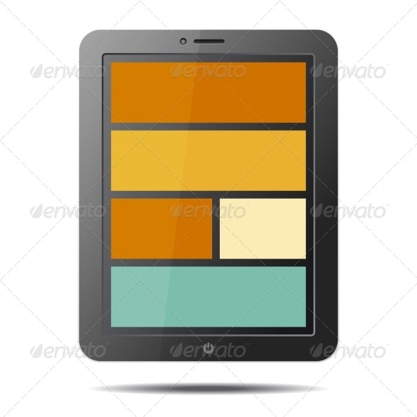 Tablet PC Computer with Flat Style Screen - Computers Technology