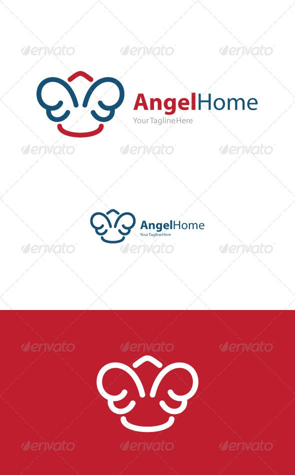 Angel Home - Buildings Logo Templates