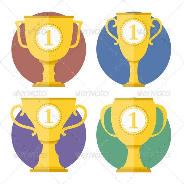Golden Cups - Objects Vectors
