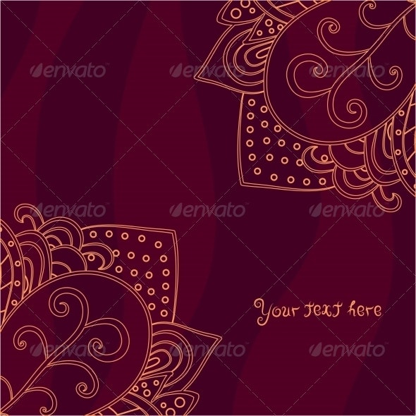 Vintage Invitation Corners on Abstract Background - Backgrounds Decorative