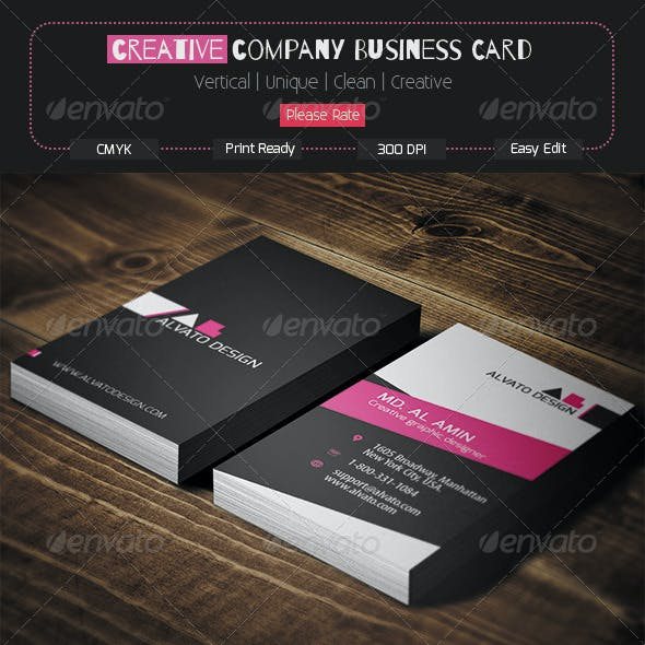 Creative Company Business Card