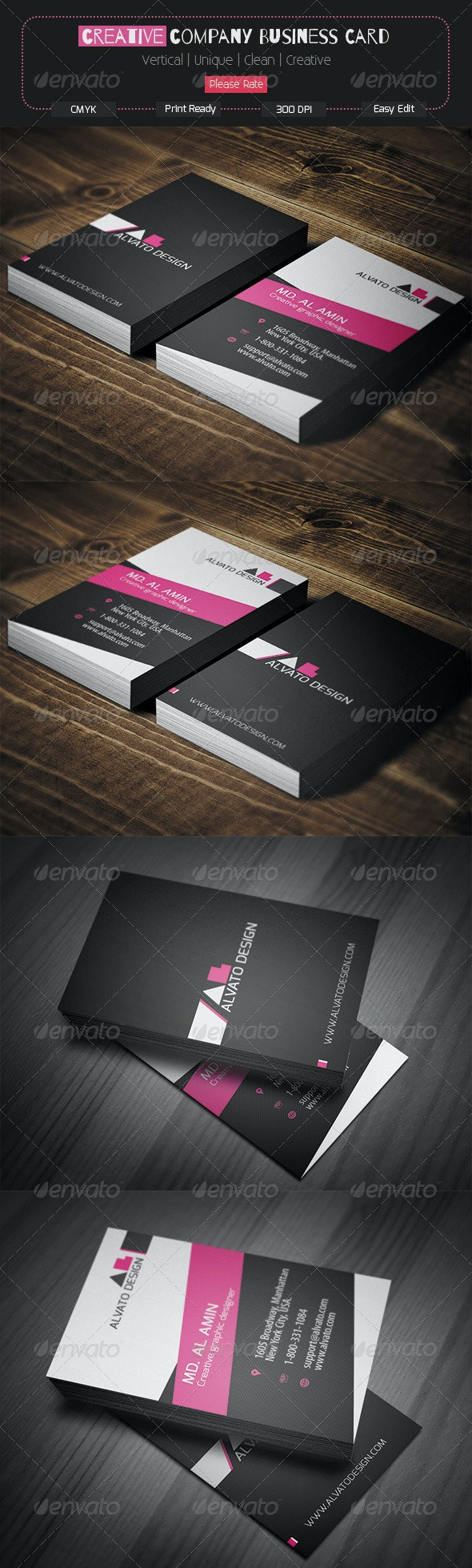 Creative Company Business Card - Corporate Business Cards