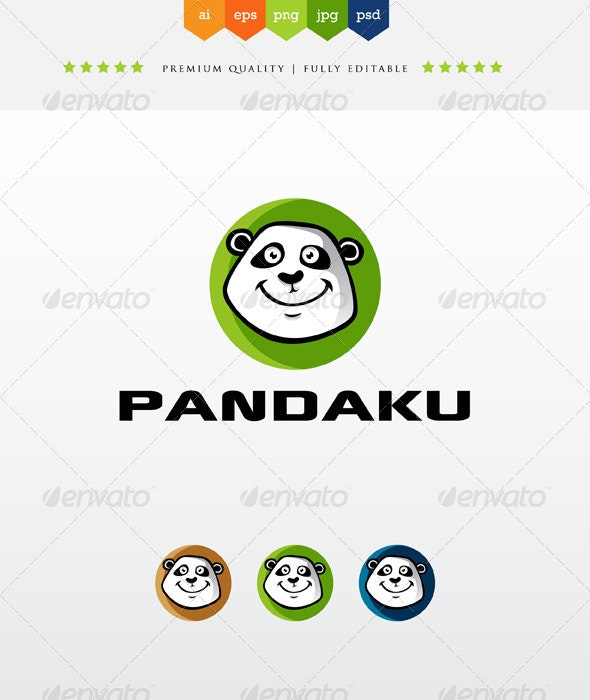 Pandaku - Animals Logo Templates