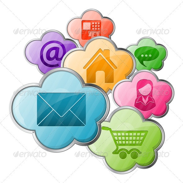 Online Shopping & Cloud Computing Concept - Concepts Business