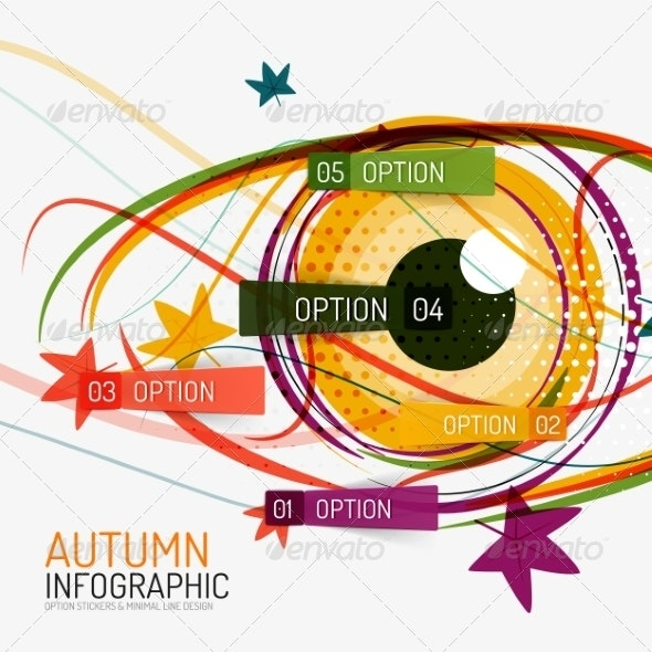 Autumn Option Infographics and Human Eye - Seasons Nature