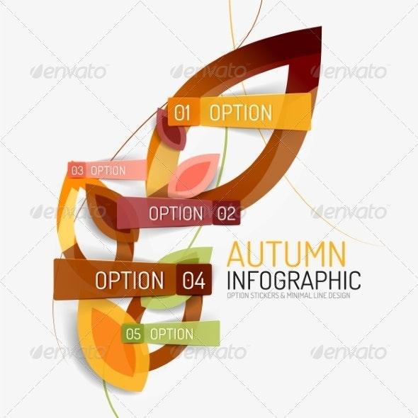 Autumn Option Infographic - Seasons Nature