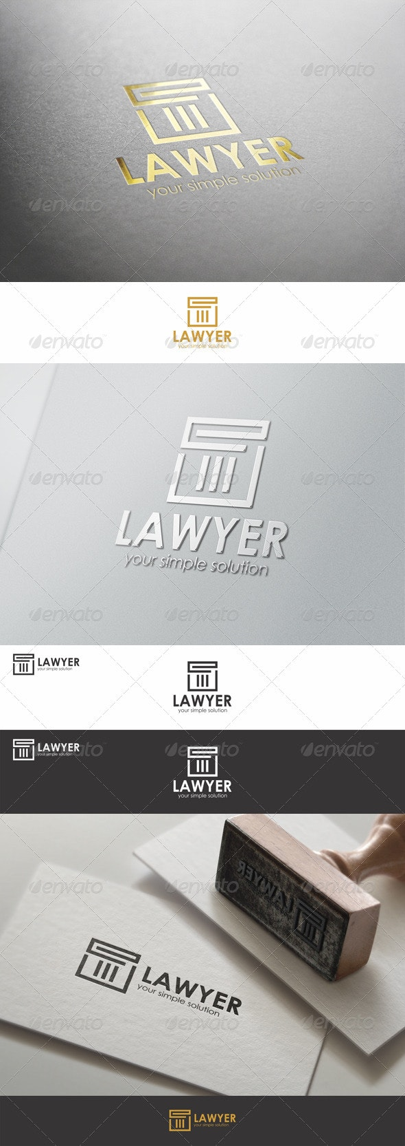 Lawyer - Justice Firm Logo