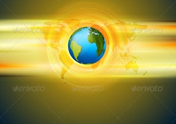 Bright Technology Background - Web Technology