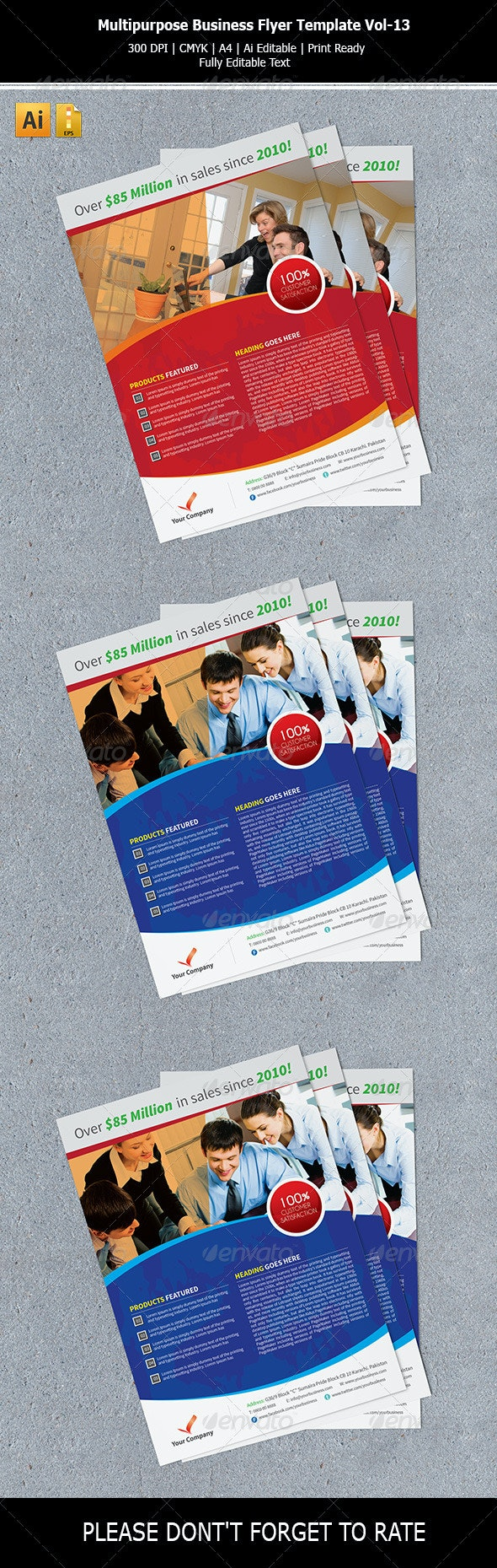 Multipurpose Business Flyer Template Vol-13 - Corporate Flyers