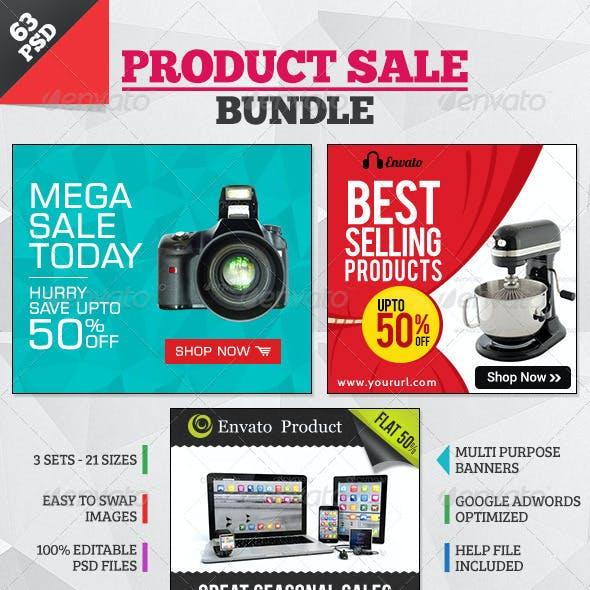 Product Sale Banners - 3 sets Bundle