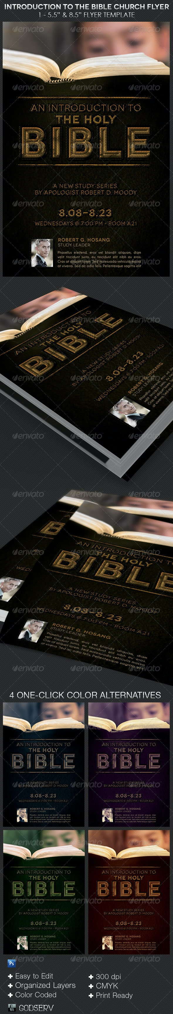 Bible Introduction Church Flyer Template - Church Flyers
