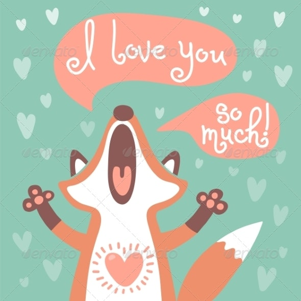 Cute Fox Confesses his Love - Animals Characters